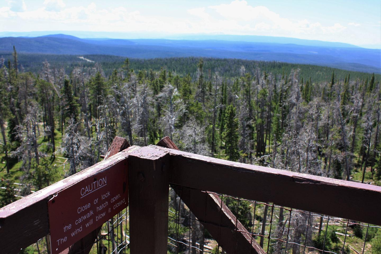 Spruce Mountain Fire Lookout Tower views