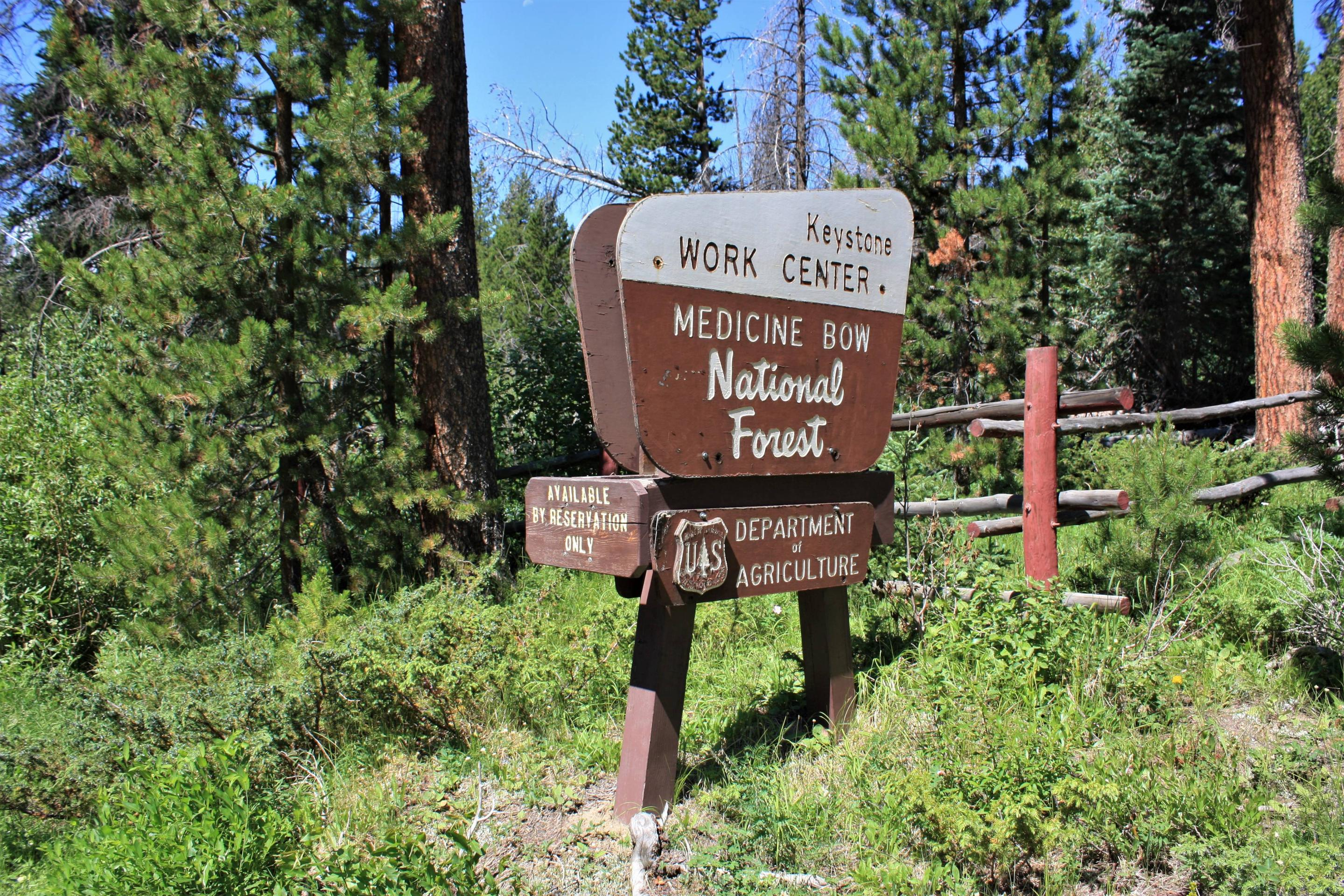 Keystone Ranger Station sign along USFS Rd 542