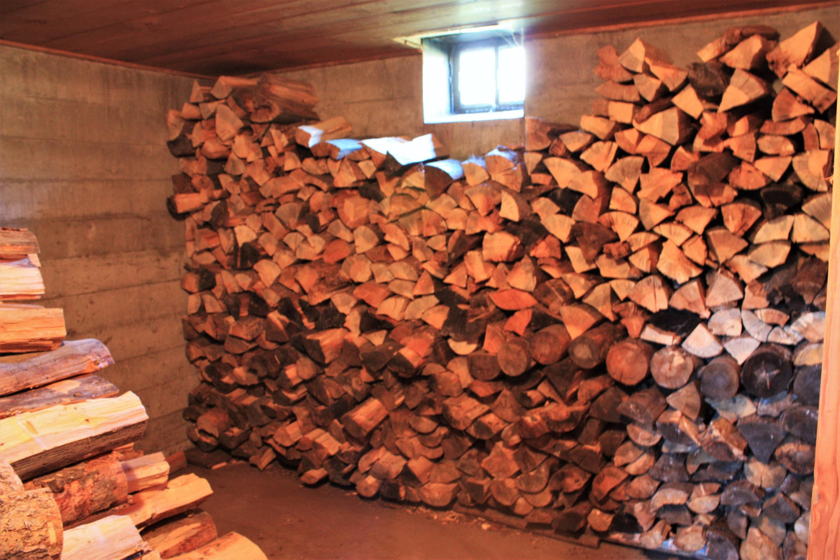 Keystone Ranger Station indoor woodpile