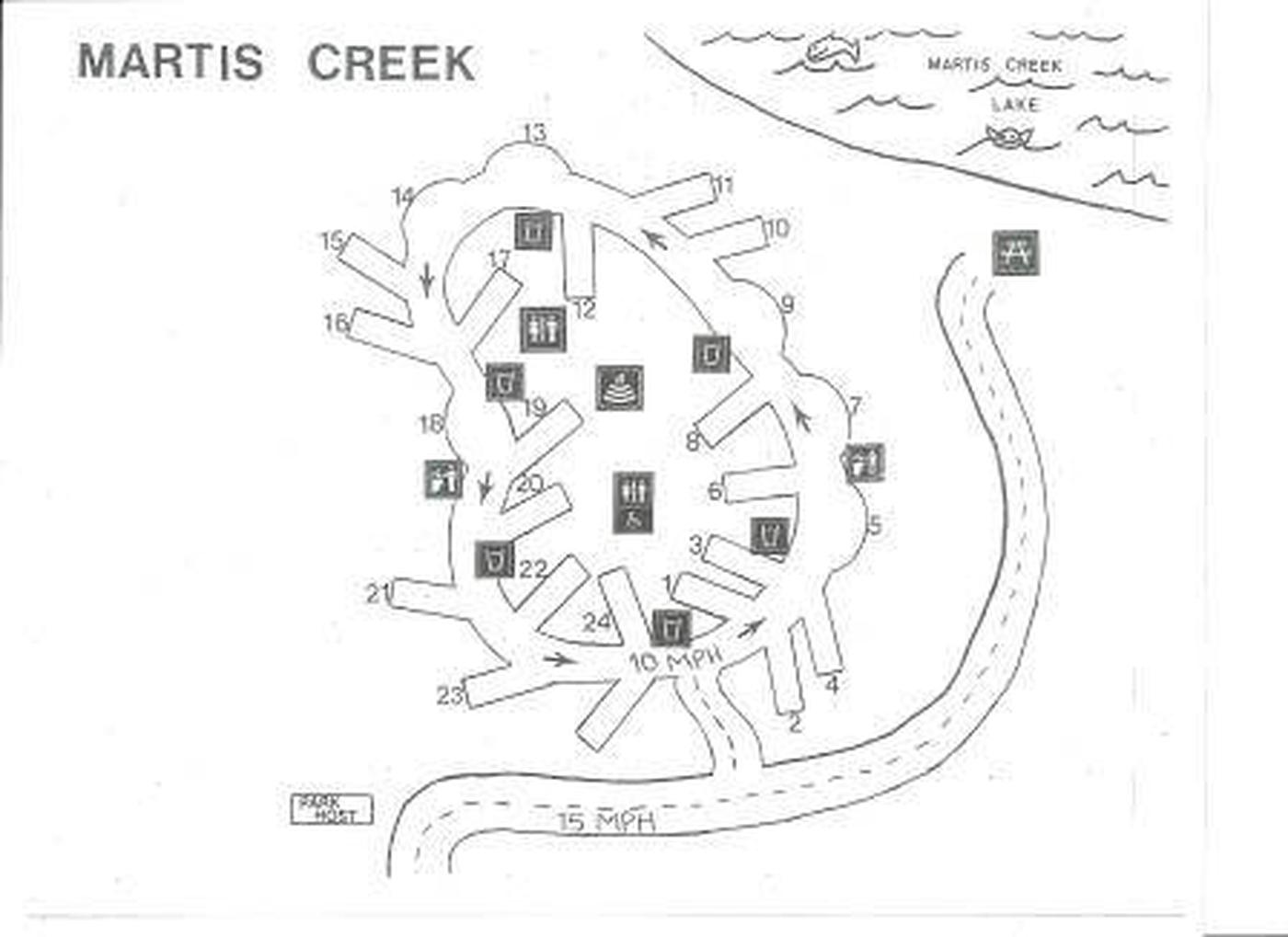 Alpine Meadow CampgroundAlpine Meadow Campground map showing campsites by site number.