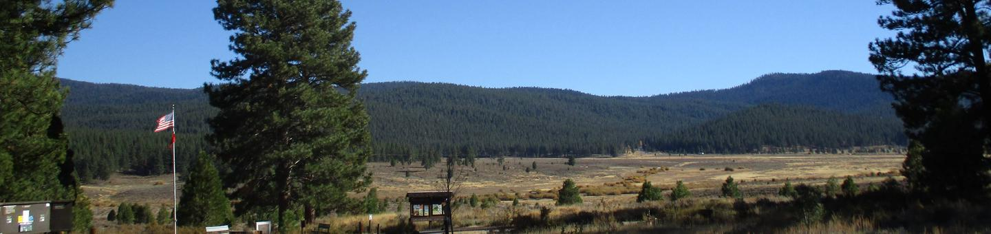 Campground Entrance/ExitView of Martis Valley from the entrance of Alpine Meadow Campground