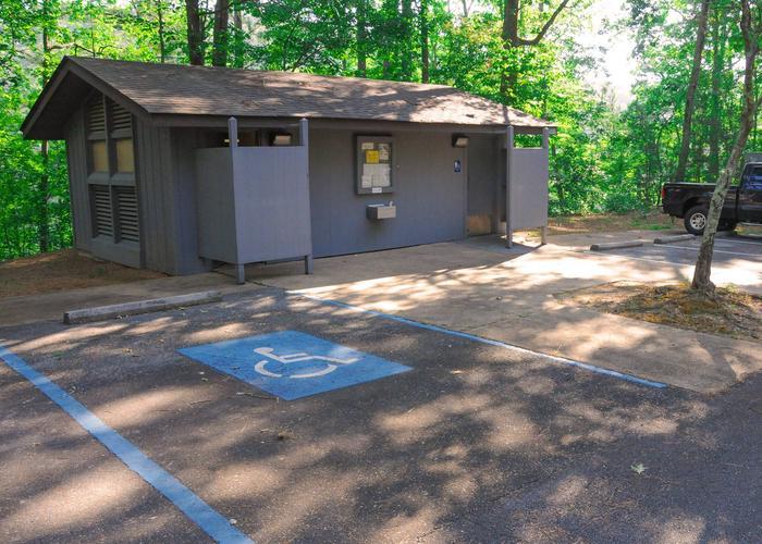 Upper Stamp Creek Bath House-2Upper Stamp Creek Campground Bath House.