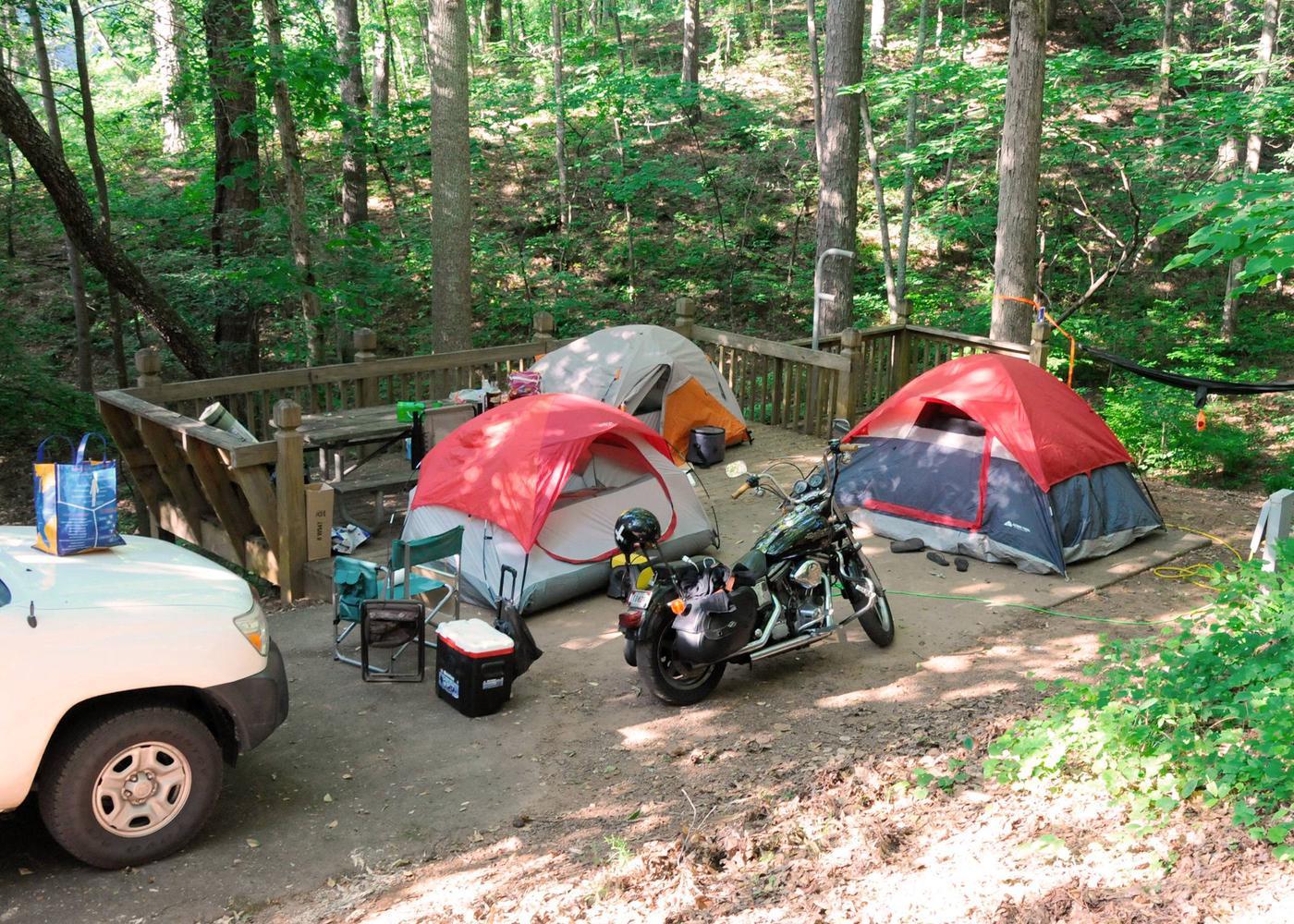 Campsite view.Upper Stamp Creek Campground, campsite 6