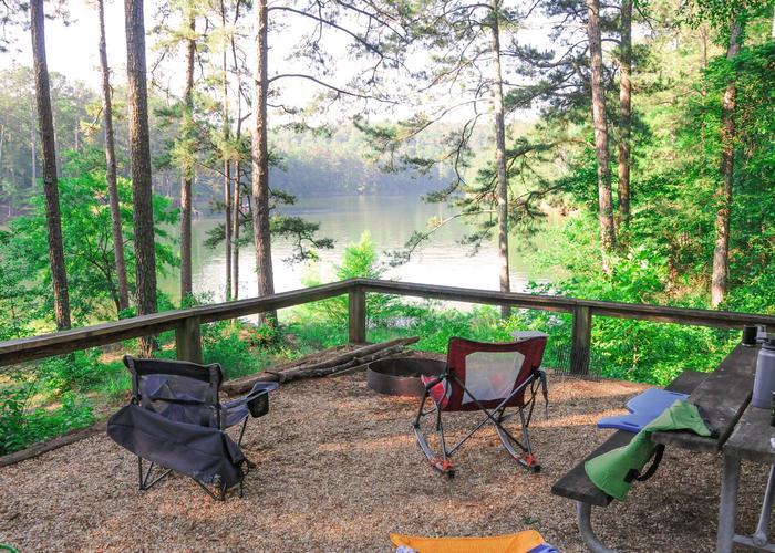 Campsite view.Upper Stamp Creek Campground, campsite 8.