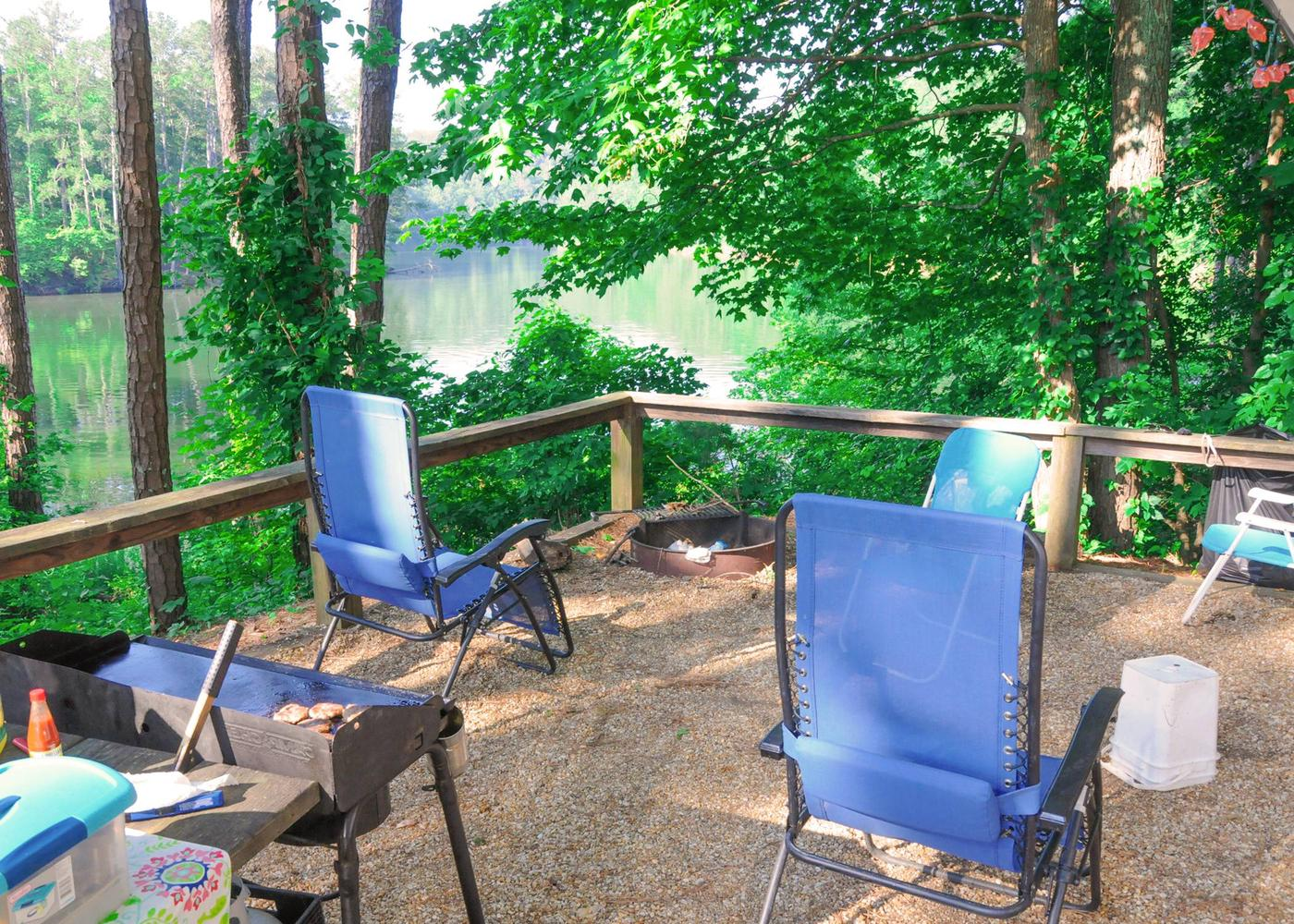 Campsite view.Upper Stamp Creek Campground, campsite 11