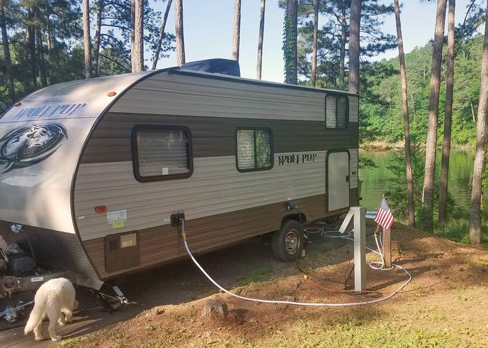 Utilities-side clearance.Upper Stamp Creek Campground, campsite 12