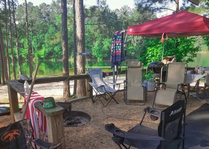 Campsite view.Upper Stamp Creek Campground, campsite 13