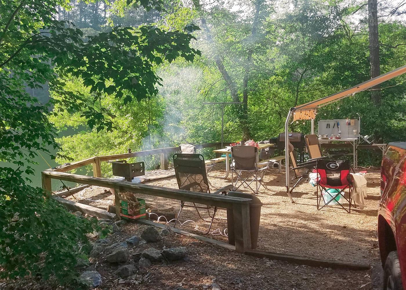 Campsite view.Upper Stamp Creek Campground, campsite 14
