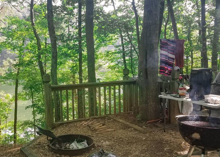 Campsite view-2Upper Stamp Creek Campground, campsite 16