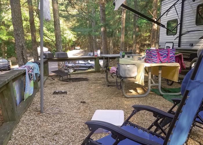 Campsite view.Upper Stamp Creek Campground, campsite 17