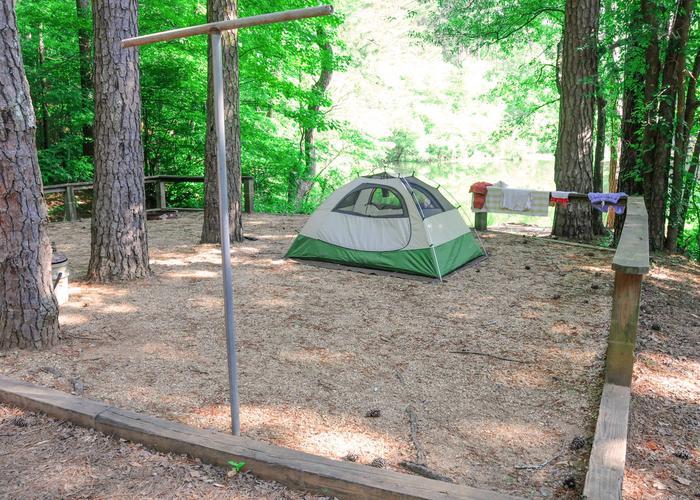 Campsite view.Upper Stamp Creek Campground, campsite 20