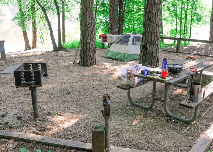 Campsite view-2Upper Stamp Creek Campground, campsite 20