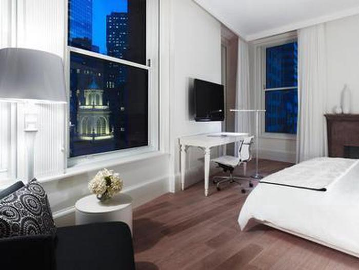 Guestrooms and SuitesChoose the perfect sized guestroom for your needs, from a standard double with platform bed and sound machine or a spectacular suite with over-sized living area and skyline views.
