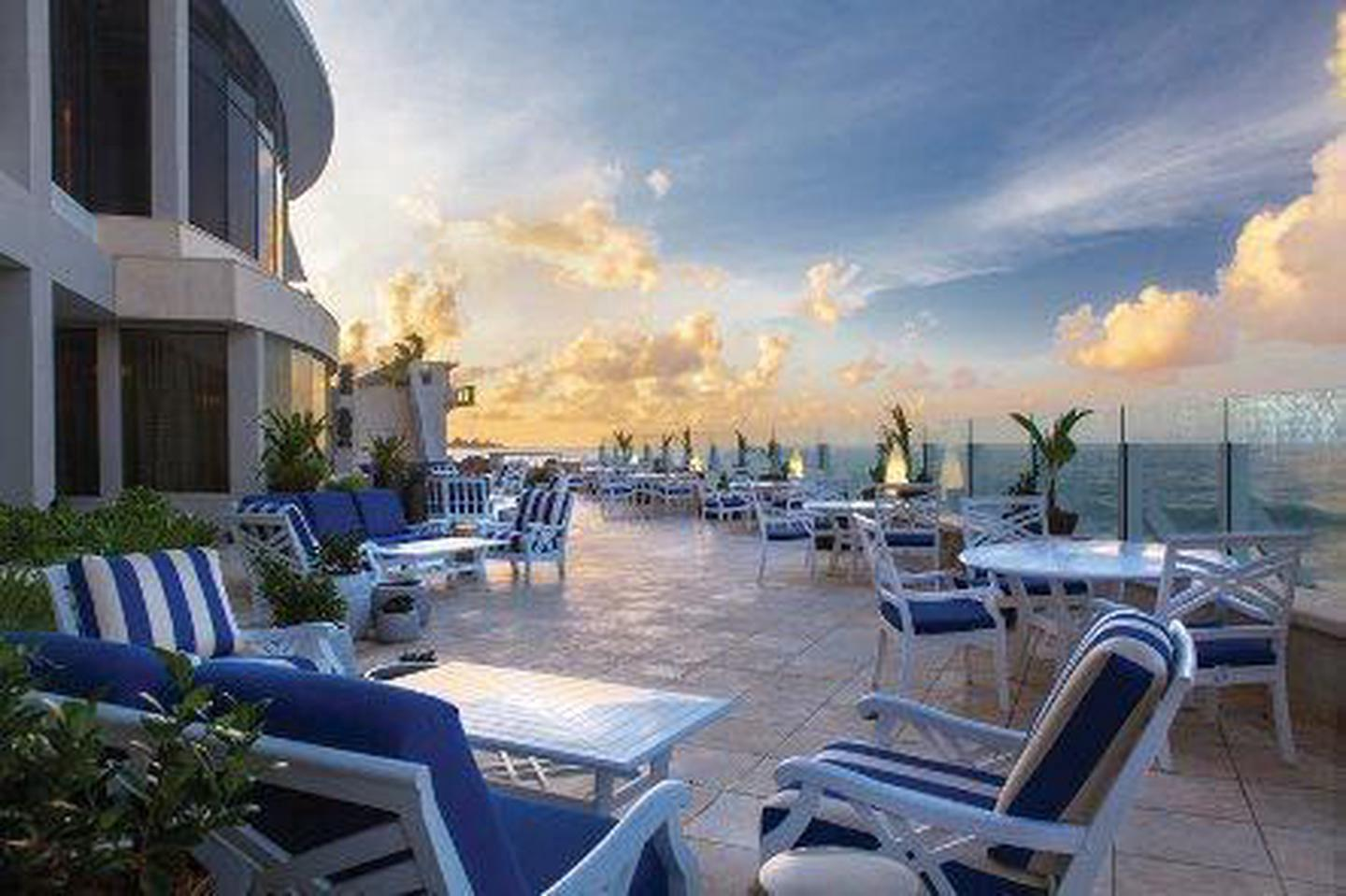Terrace with a ViewGuests to the Condado Vanderbilt need not leave the terrace to enjoy a perfect view of the Atlantic Ocean.