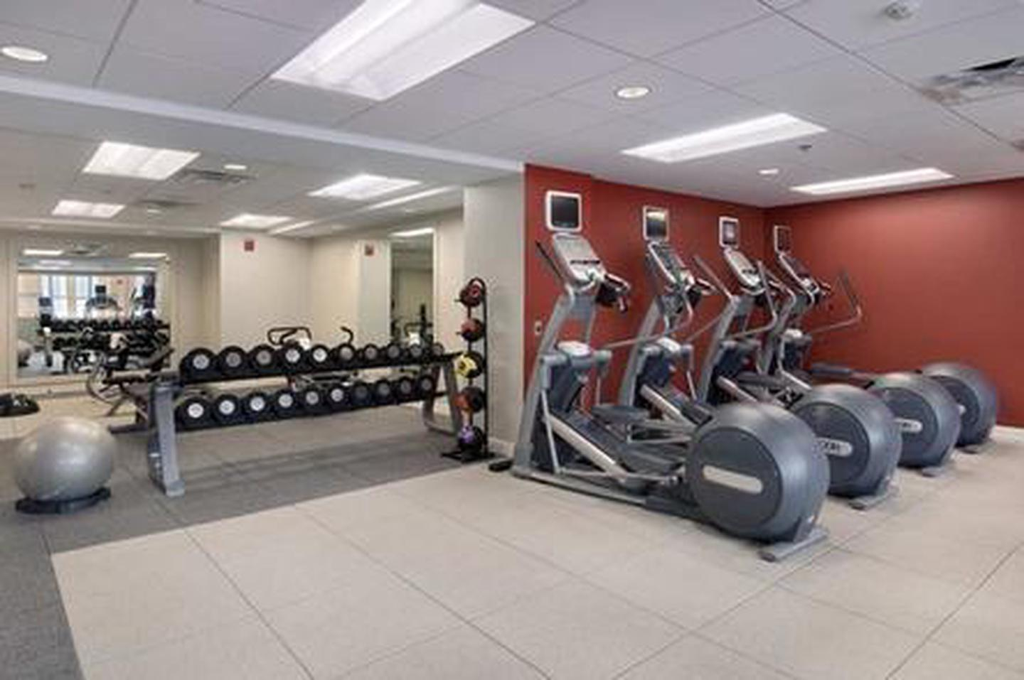 Amenities In addition to a fully stocked fitness center including machines and free weights, guests can enjoy luggage storage, a gift shop, local area transportation and more.