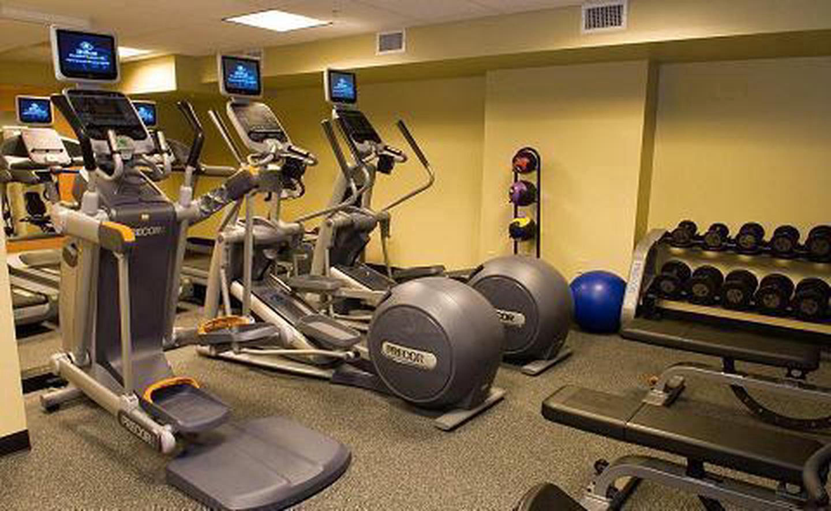 On-Site Fitness CenterIn case exploring the city is not enough exercise for one day, guests can utilize the 24 hour fitness center.