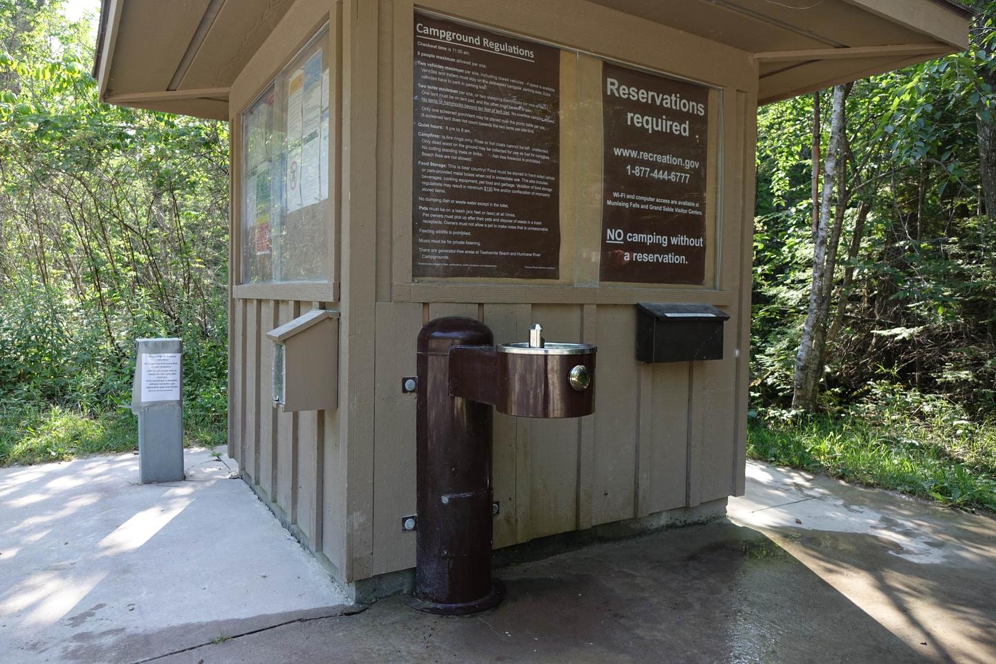 Water fountain/spout available at campgroundWater/Refill Station