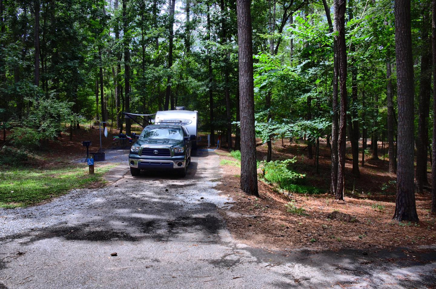 Driveway, utility-side clearance.McKinney Campground, campsite 2.