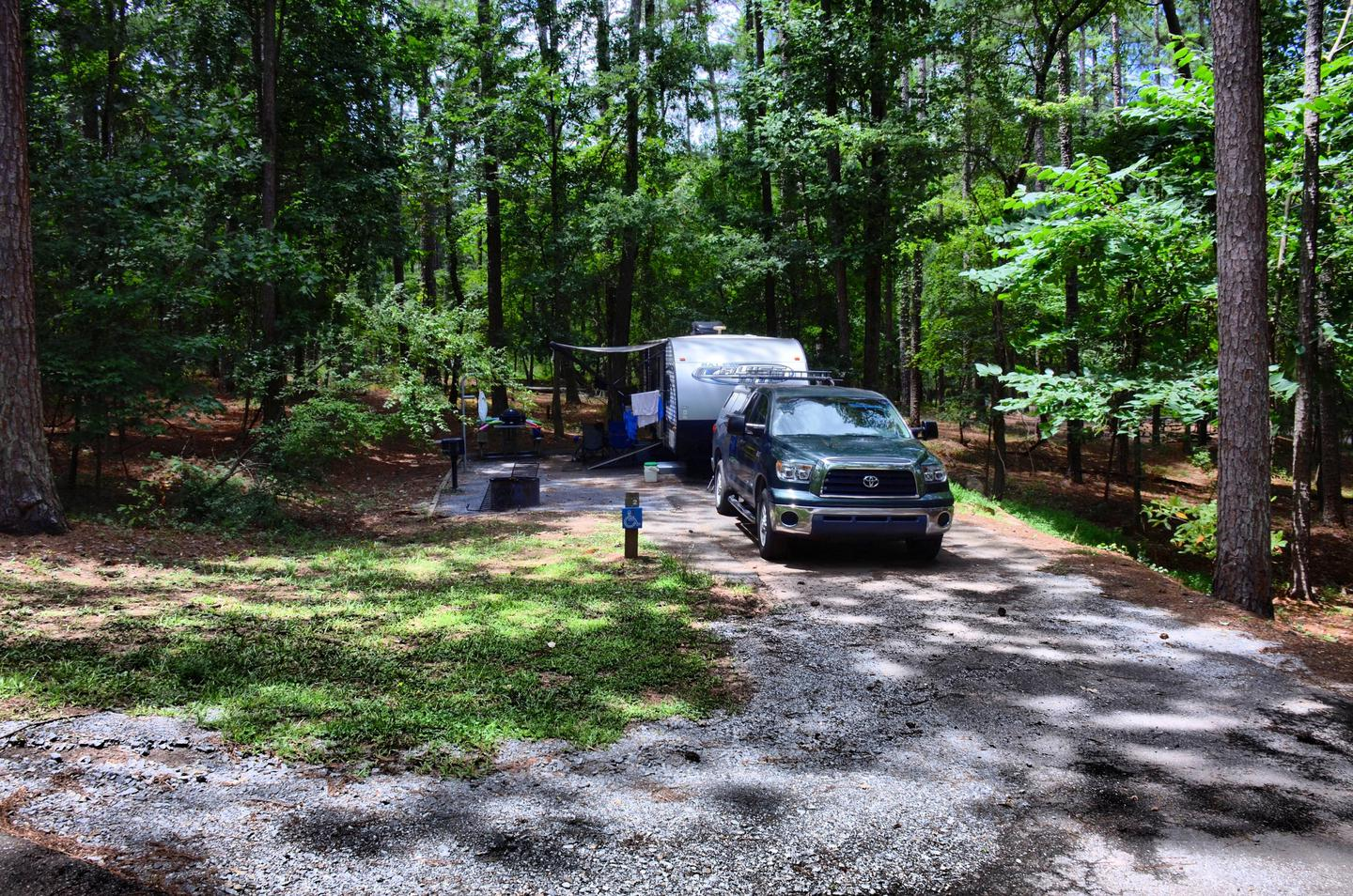 Driveway, awning-side clearance.McKinney Campground, campsite 2