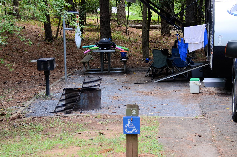 Campsite viewMcKinney Campground, campsite 2.