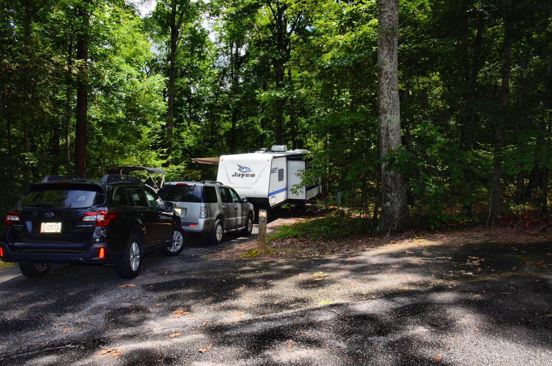 DrivewayMcKinney Campground, campsite 15