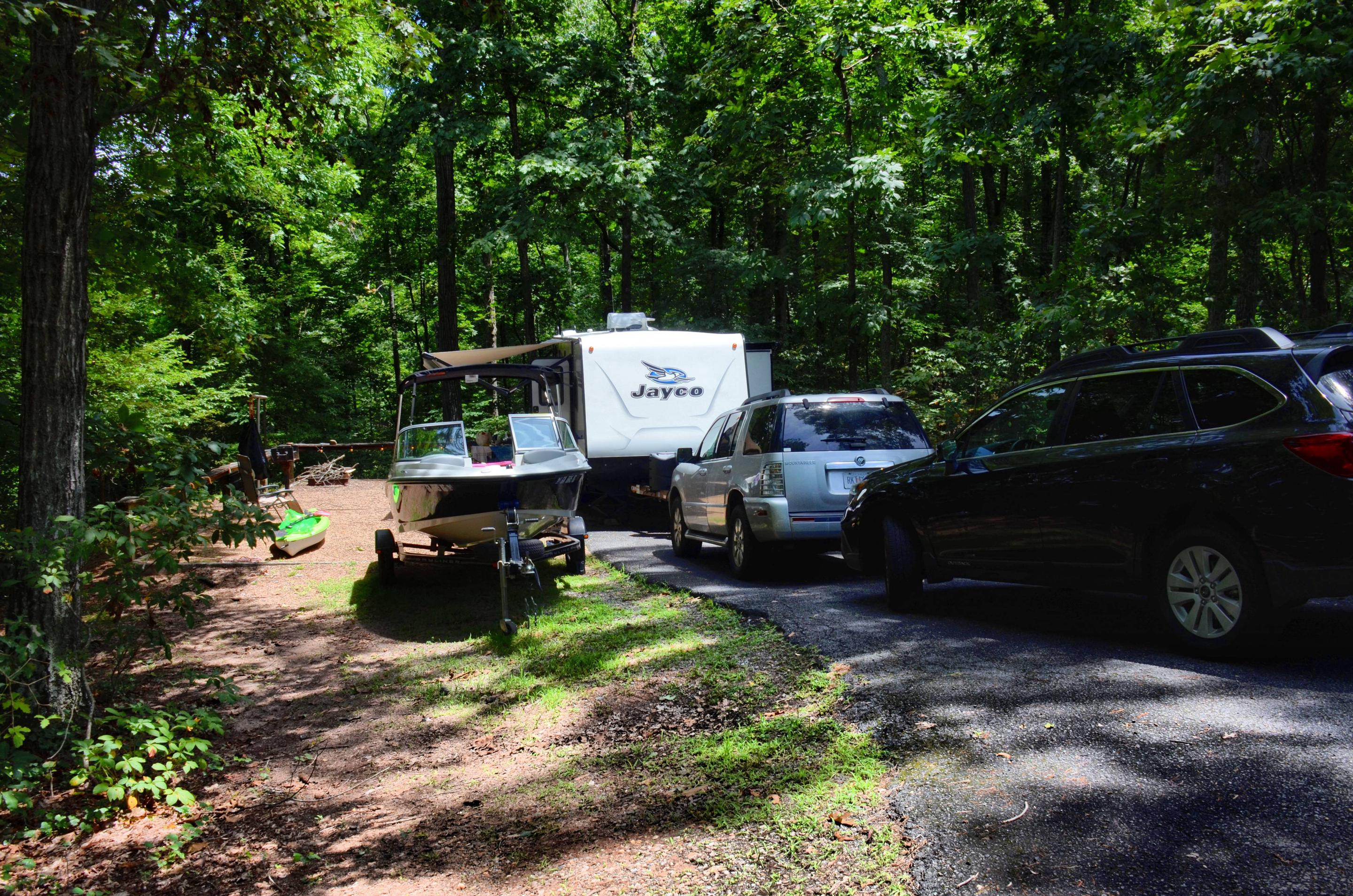 Awning-side clearance.McKinney Campground, campsite 15.