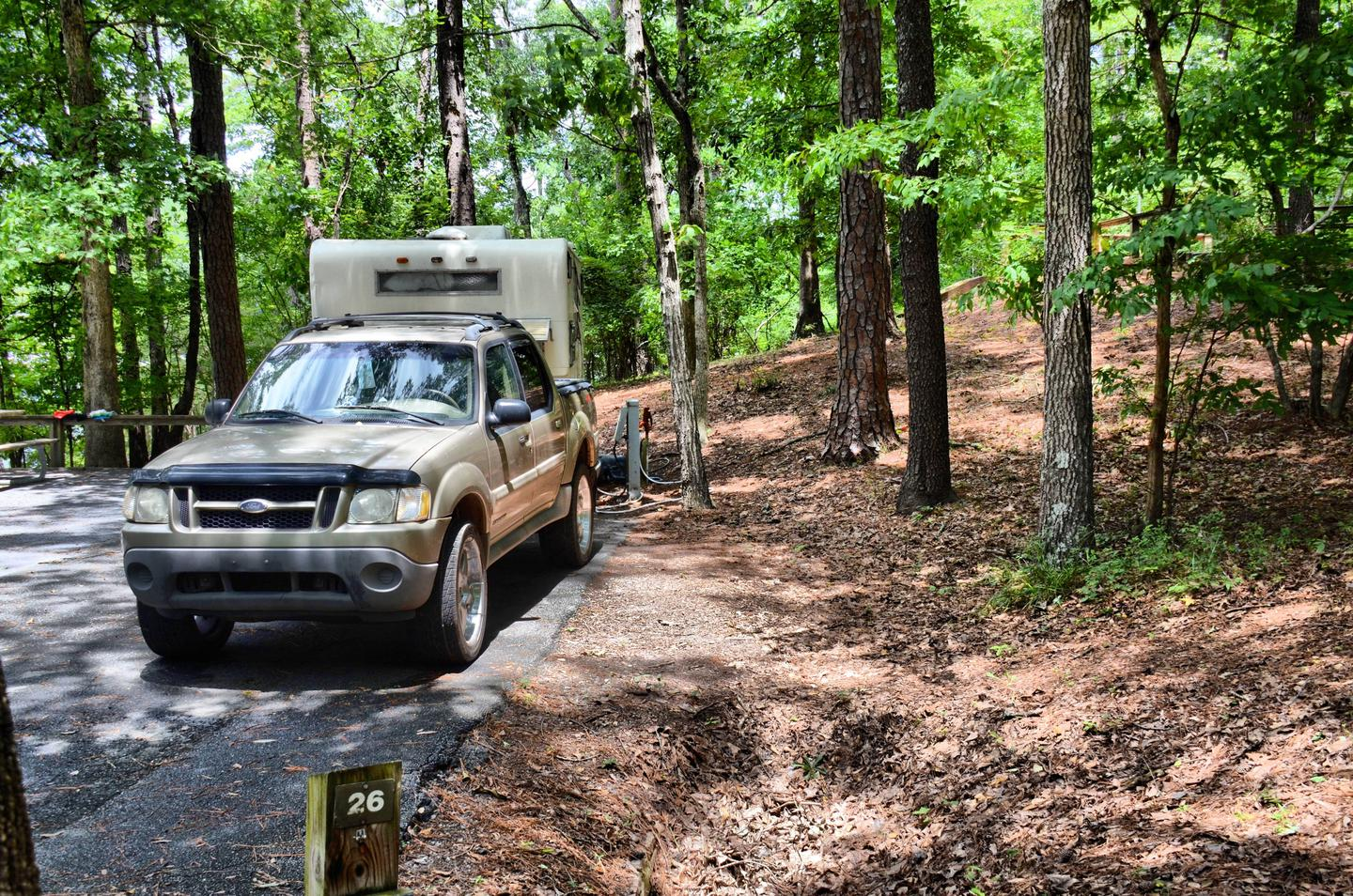 Utilities-side clearance.McKinney Campground, campsite 26.