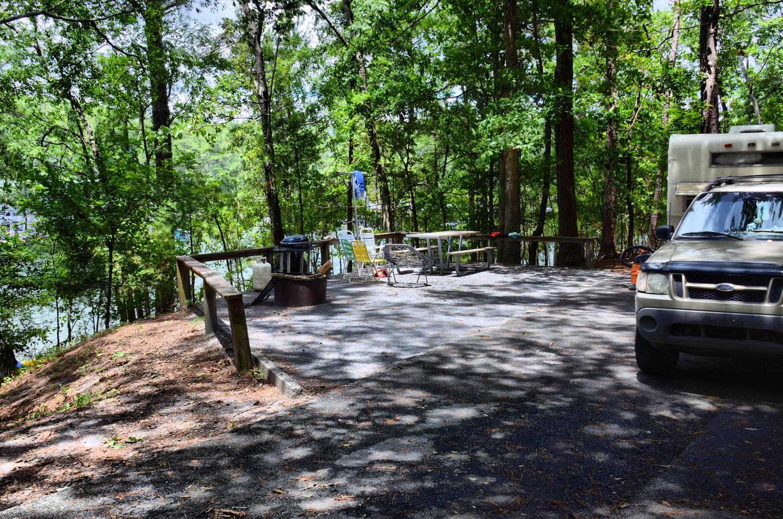Campsite view.McKinney Campground, campsite 26.
