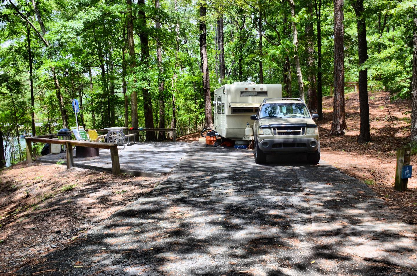 Awning-side clearance.McKinney Campground, campsite 26.