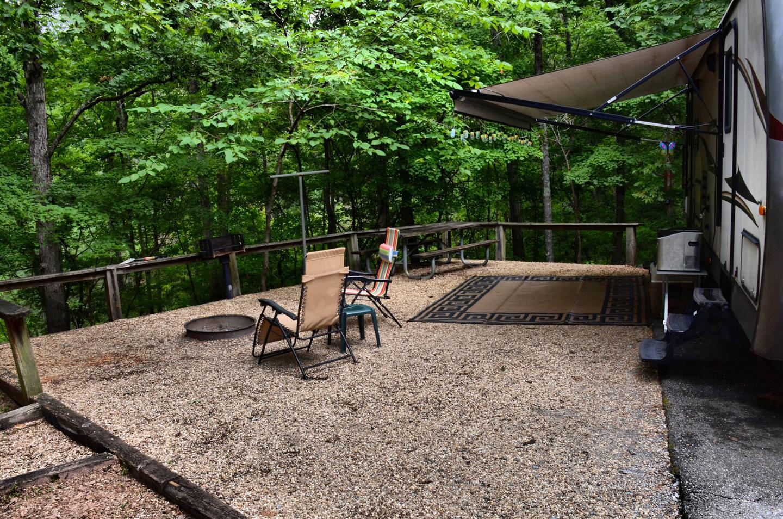 Campsite view.McKinney Campground, campsite 79.