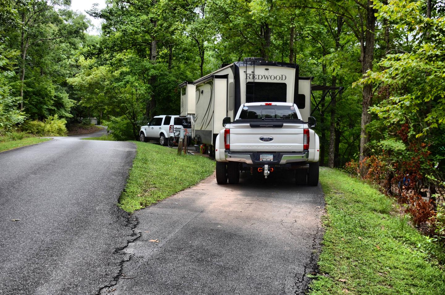 Pull-thru entrance, utilities clearance.McKinney Campground, campsite 80.