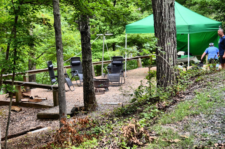 Campsite view.McKinney Campground, campsite 80.
