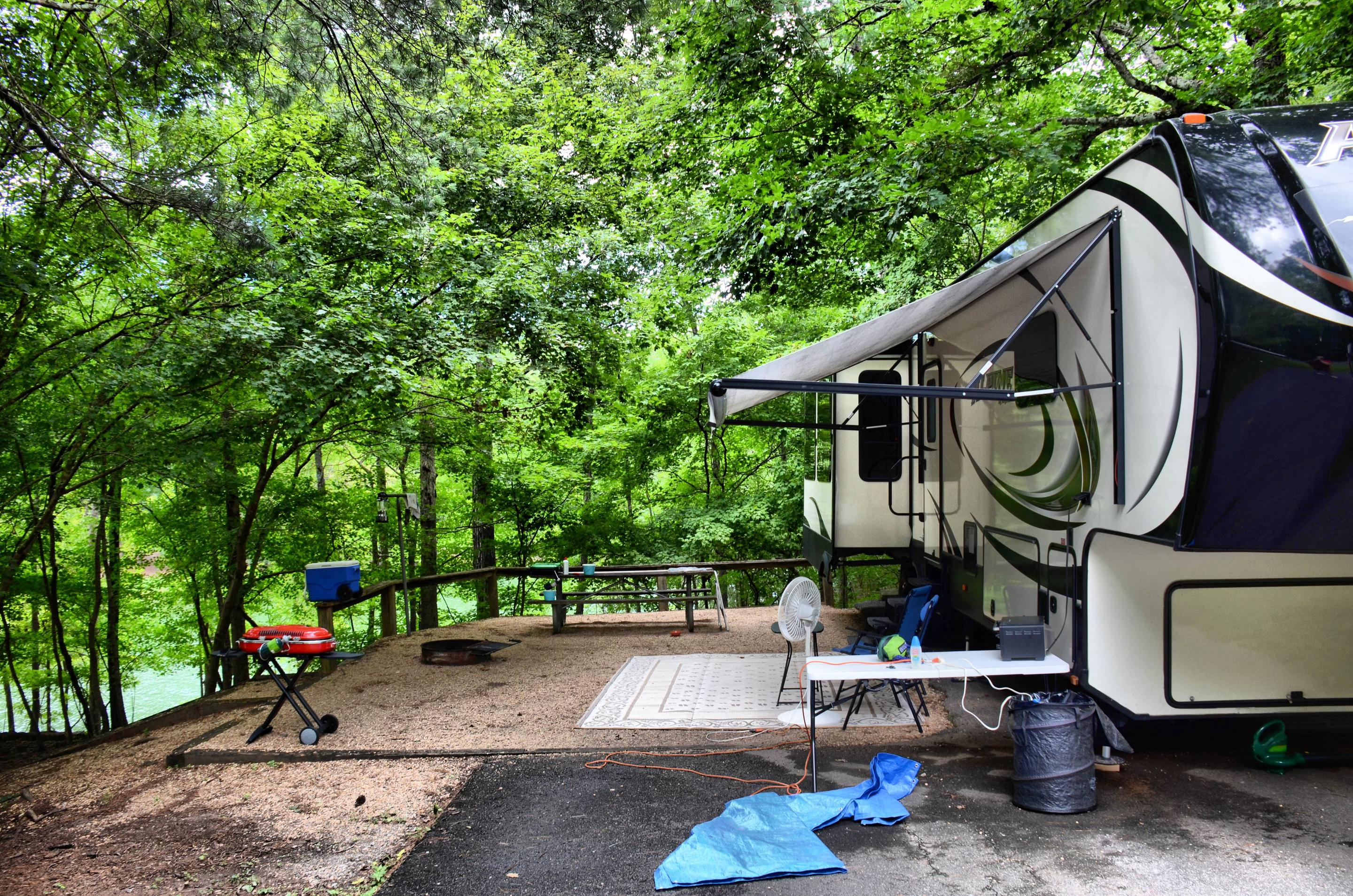 Awning-side clearance, campsite view.McKinney Campground, campsite 81.