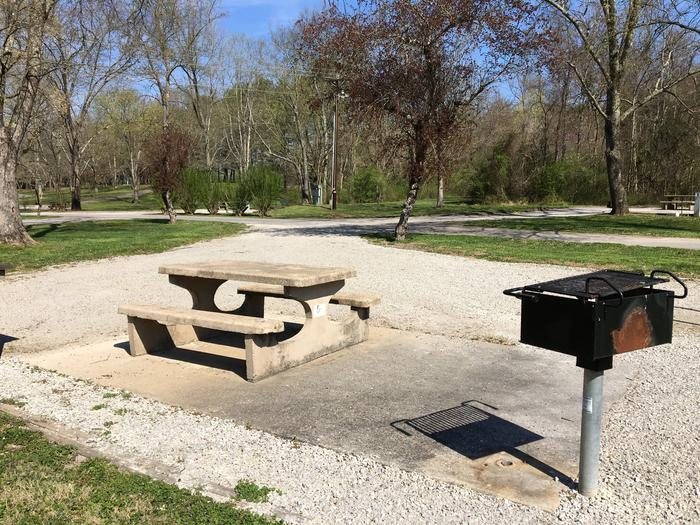 DALE HOLLOW DAMSITE #4 TABLE AND PEDESTAL GRILLDALE HOLLOW DAMSITE #4