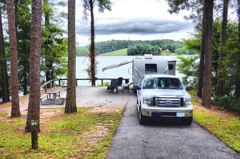Driveway, campsite view.McKinney Campground, campsite 114.