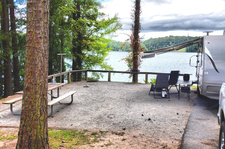 Campsite view.McKinney Campground, campsite 114.