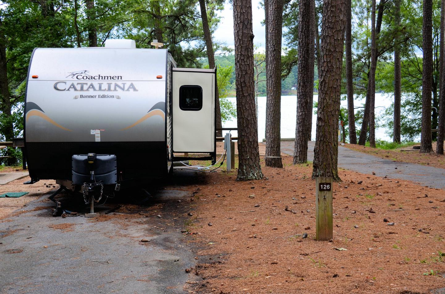 Utilities-side clearance.McKinney Campground, campsite 126