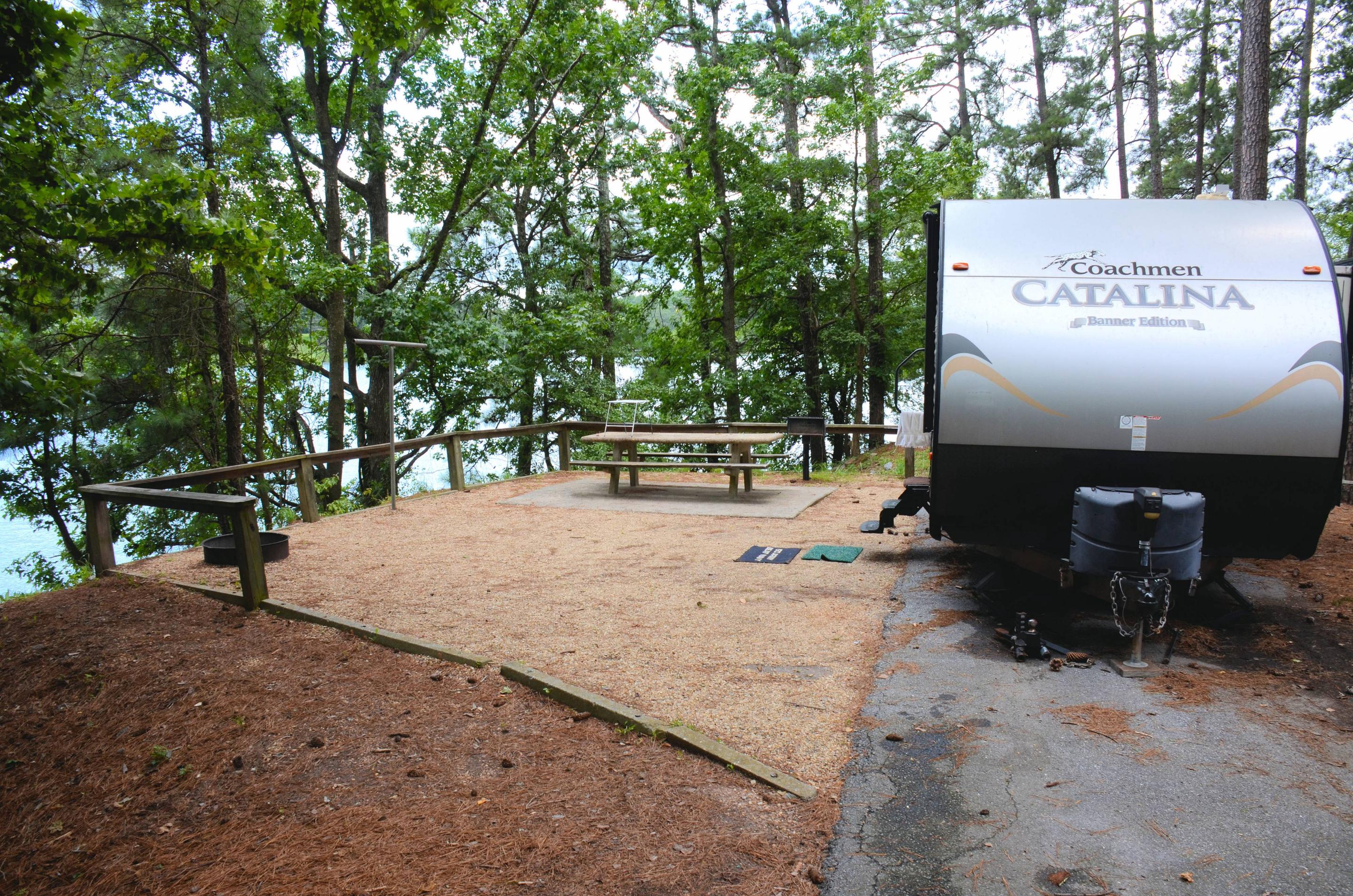 Awning-side clearance, campsite view.McKinney Campground, campsite 126.