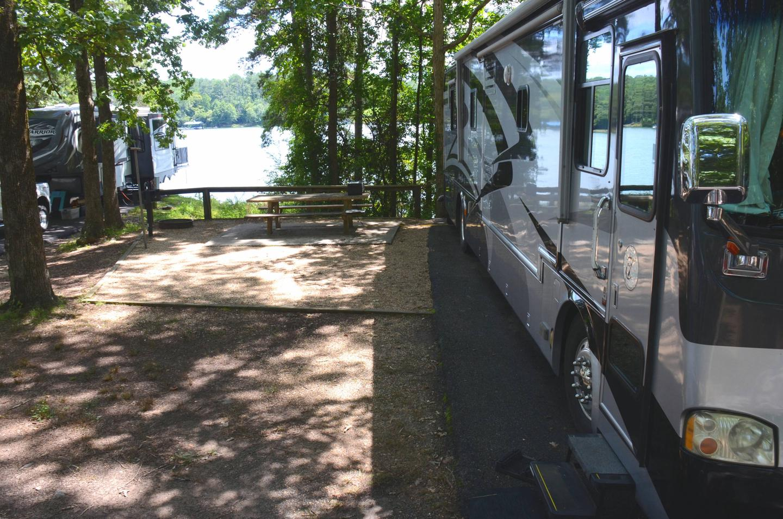 Campsite view.McKinney Campground, campsite 143.