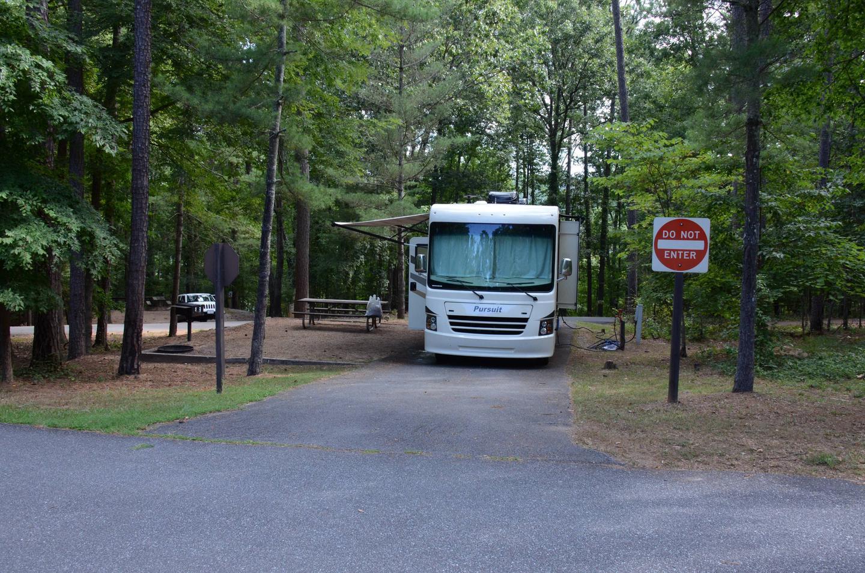 Pull-thru exit.McKinney Campground, campsite 12.