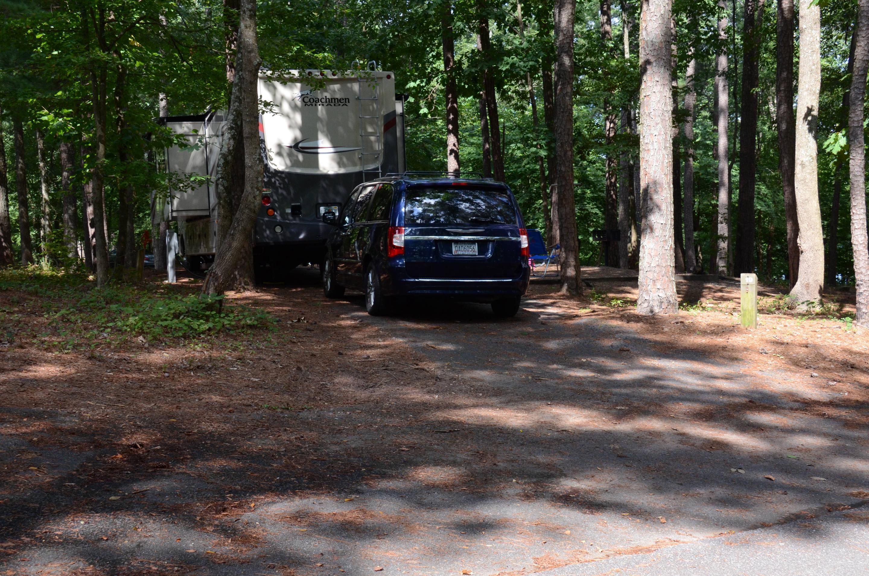 Pull-thru entrance.McKinney Campground, campsite 19.