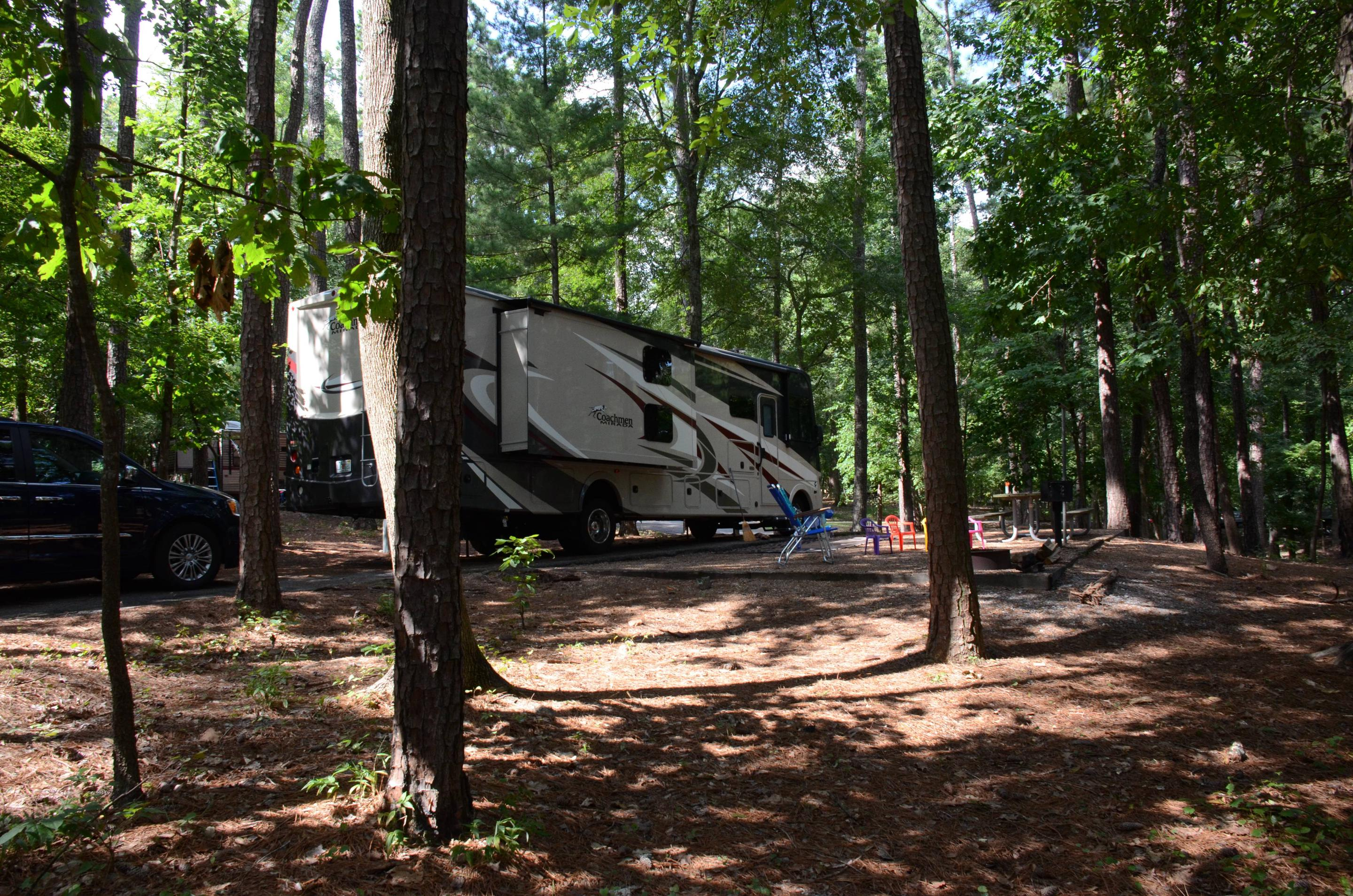Awning-side clearance.McKinney Campground, campsite 19.