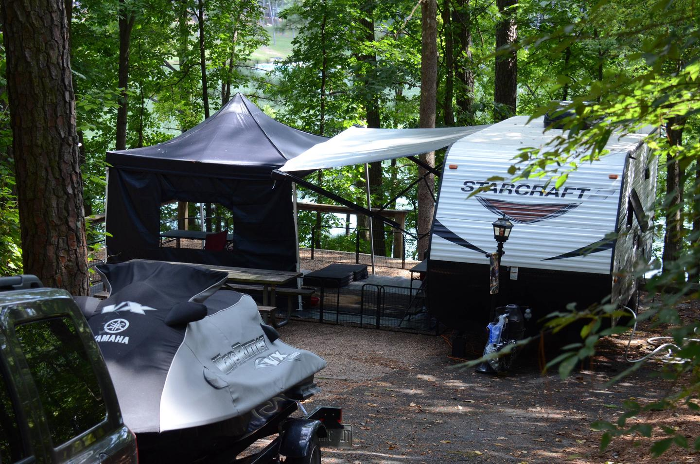Campsite view.McKinney Campground, campsite 21.