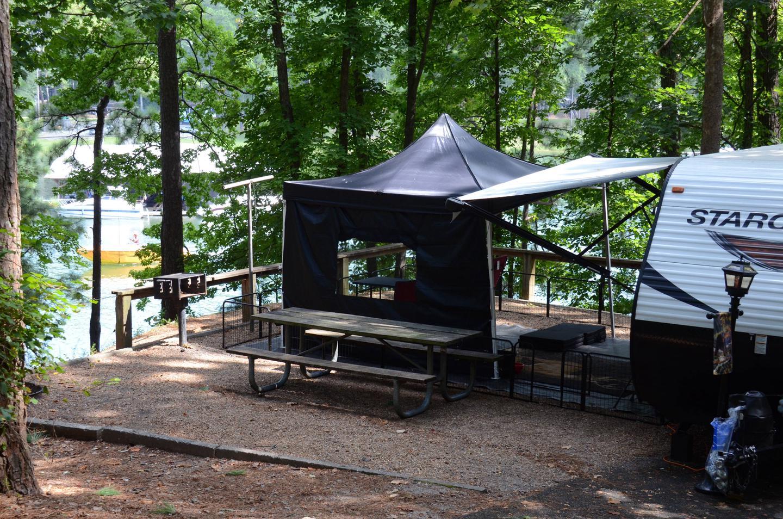Campsite view-2McKinney Campground, campsite 21.