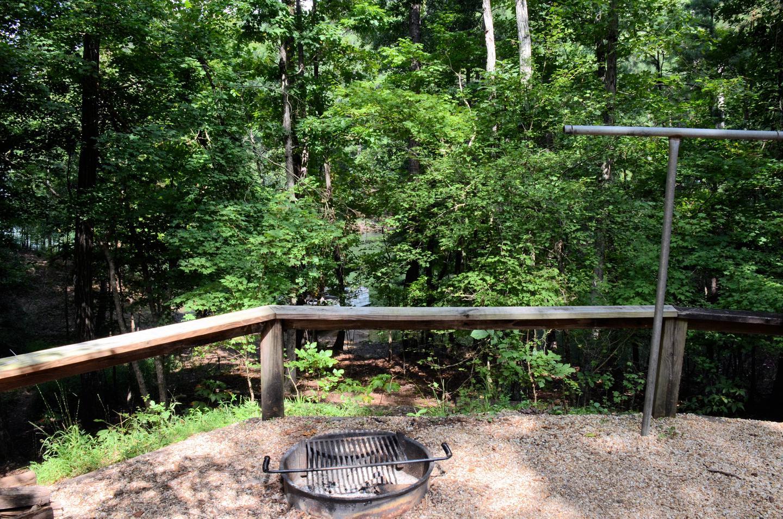 Campsite view.McKinney Campground, campsite 78.