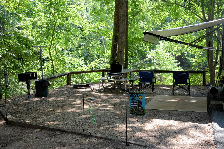 Campsite view.McKinney Campground, campsite 100.