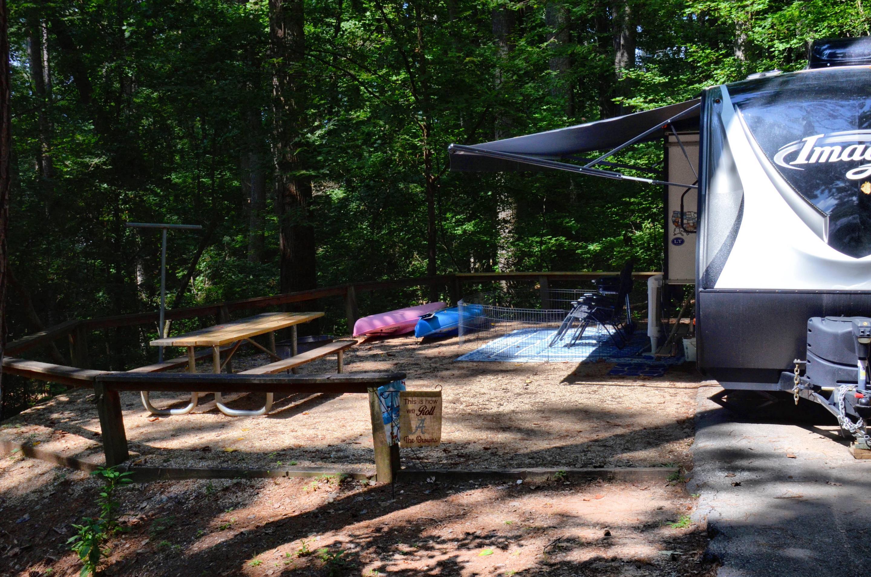 Campsite view.McKinney Campground, campsite 102.