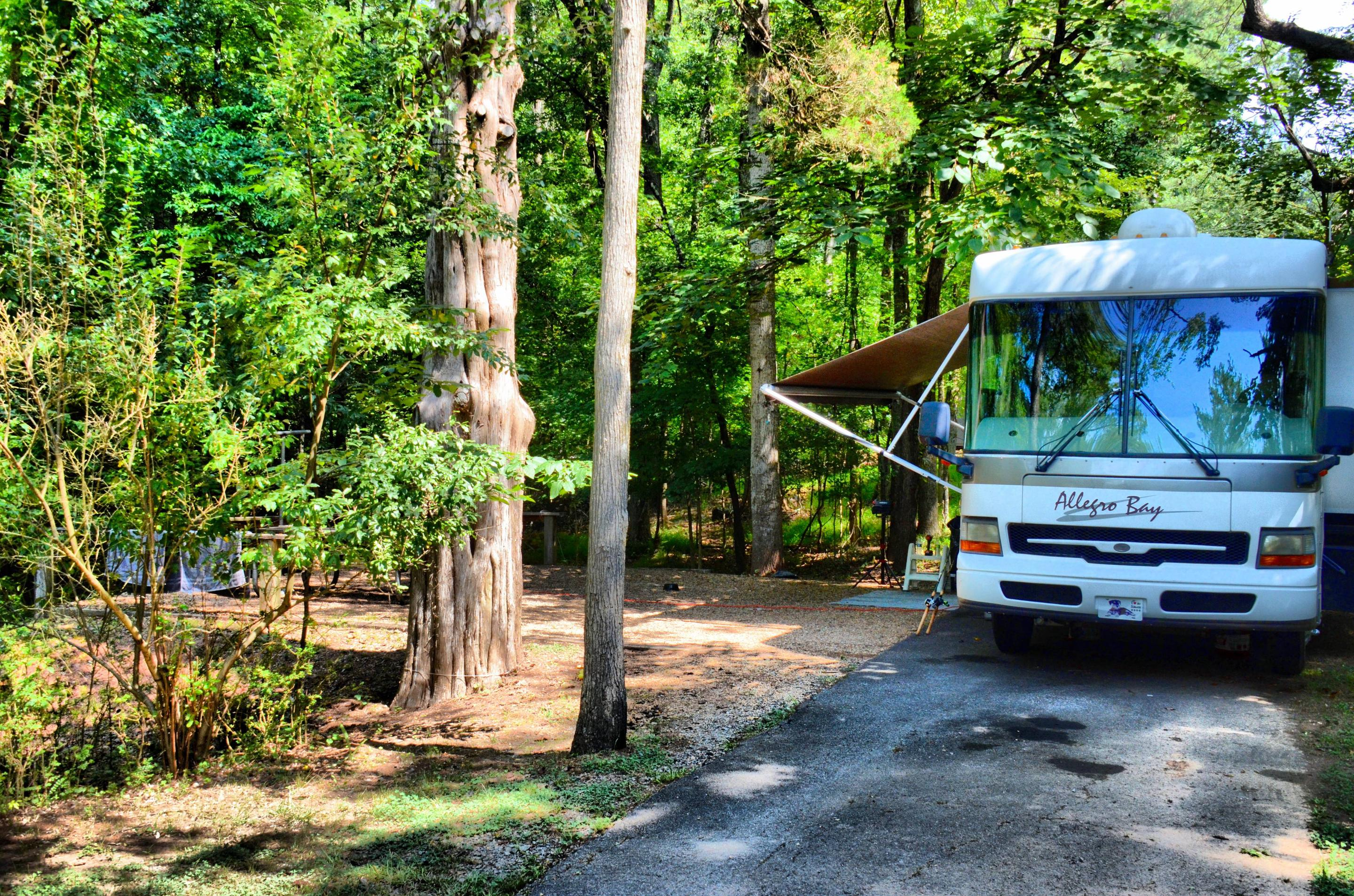 Awning-side clearance.McKinney Campground, campsite 105.