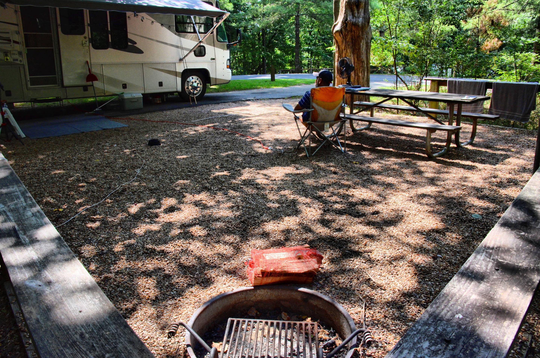 Campsite view.McKinney Campground, campsite 105.