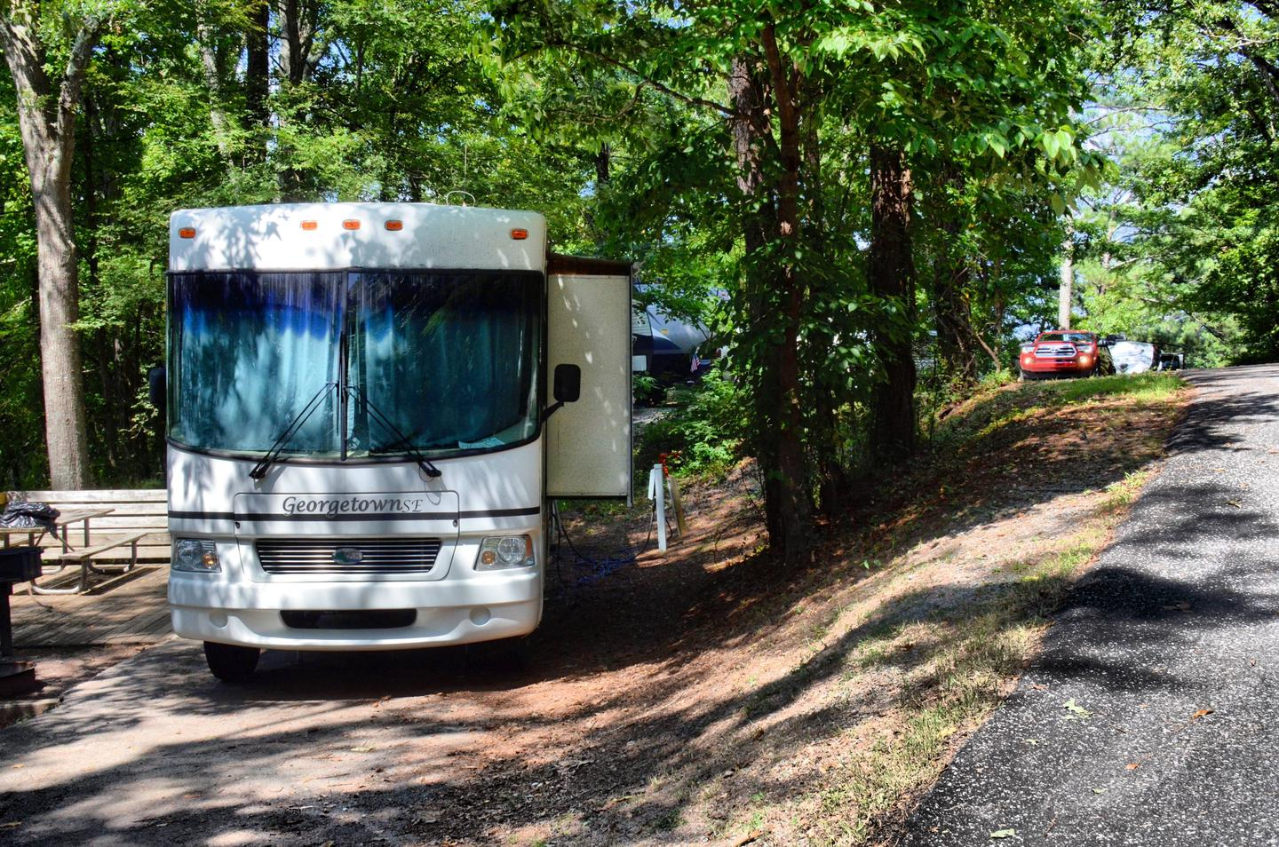 Utilities-side clearance.McKinney Campground, campsite 112.